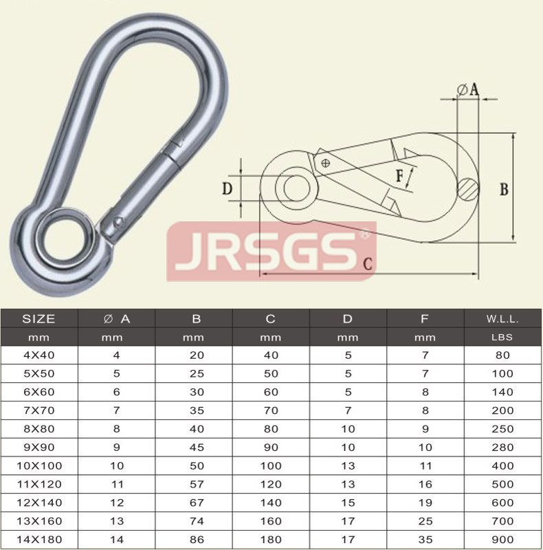 Stainless Steel Band Spring Hook