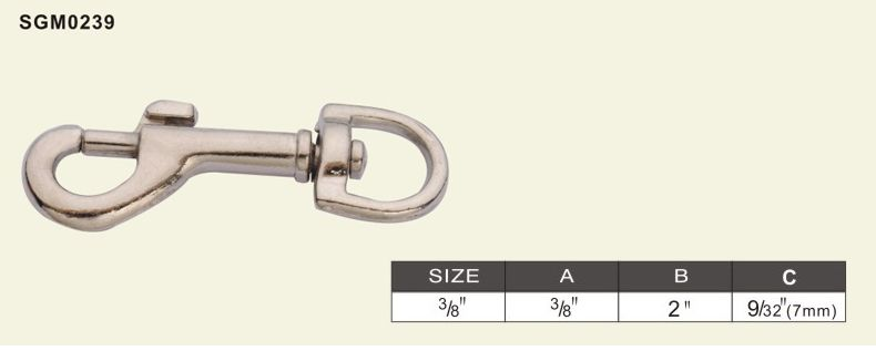 swivel bolt snap